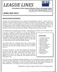 Local League April & May Newsletter Now Available!
